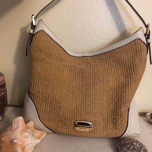 Michael Kors Wicker and Leather Purse
